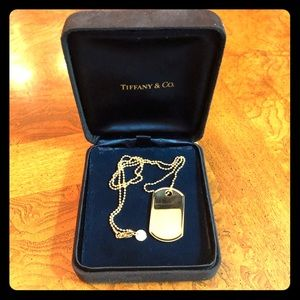 Tiffany & Co. Gold Coin Edge Tag Necklace